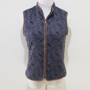 Columbia Insulated Small Women's Vest Grey Paisley